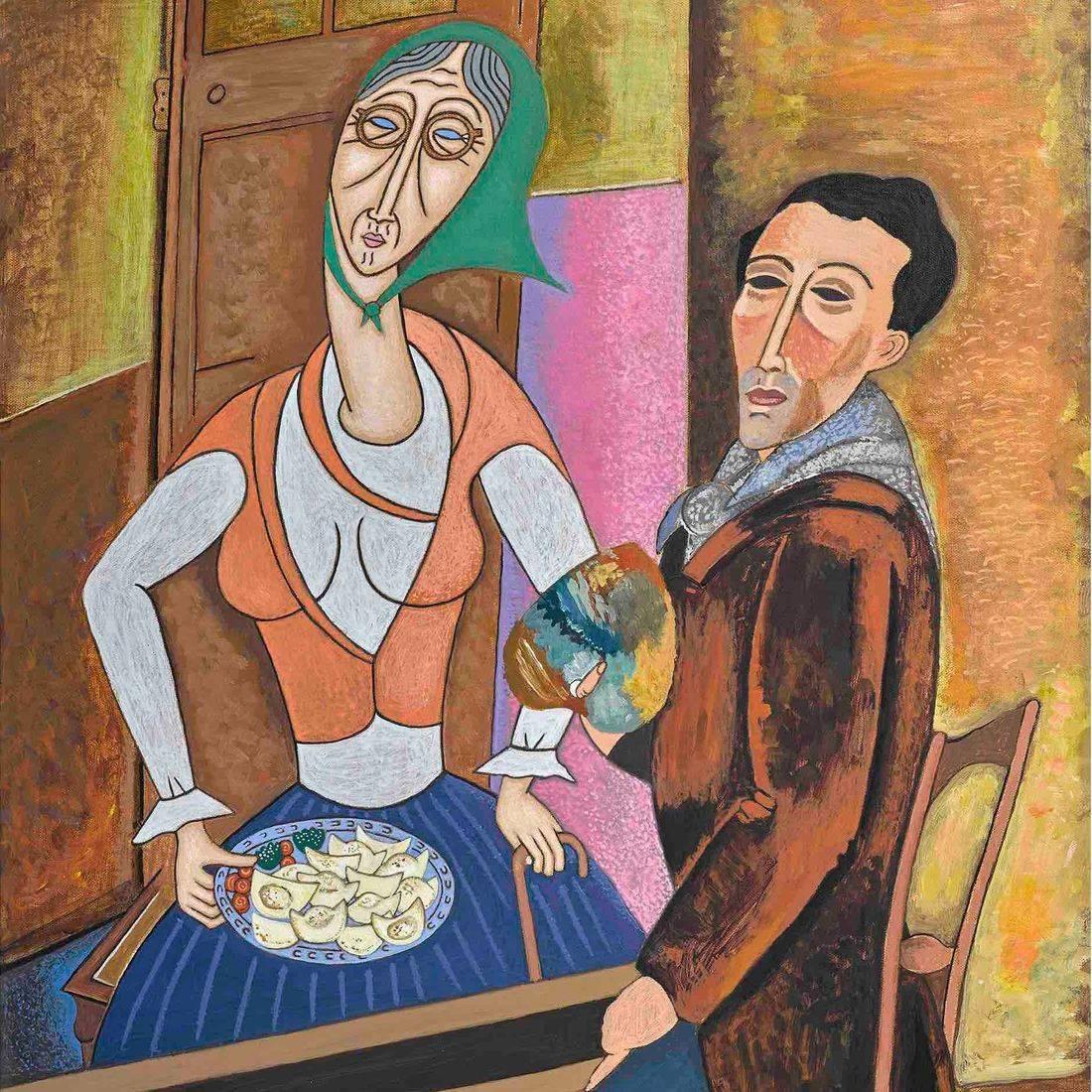 Modigliani, Grandmother, Pierogies, Polish Culture, Homage, Famous Artists, Parody, Humor