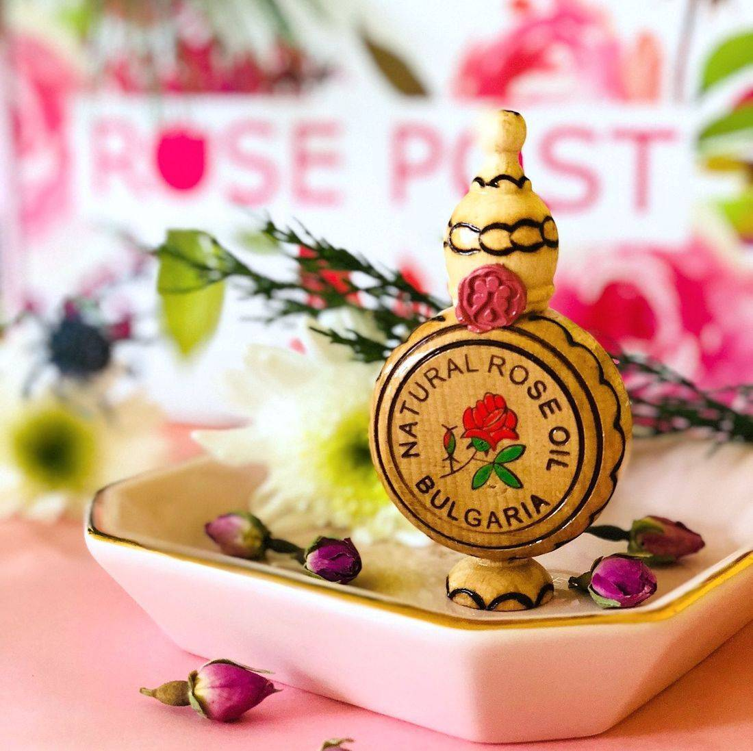 Bulgarian Rose Oil, Bulgarian Rose Otto, RosePost Box, Rose essential oil, Bulgarian Rose Oil, Bulgarian Rose Otto, Clean Rose Beauty