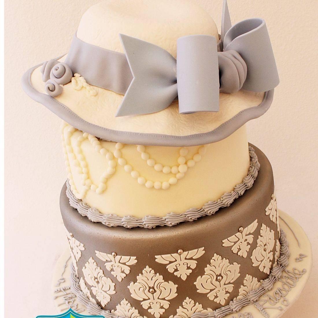 Custom Periwinkle Hat Cake Milwaukee