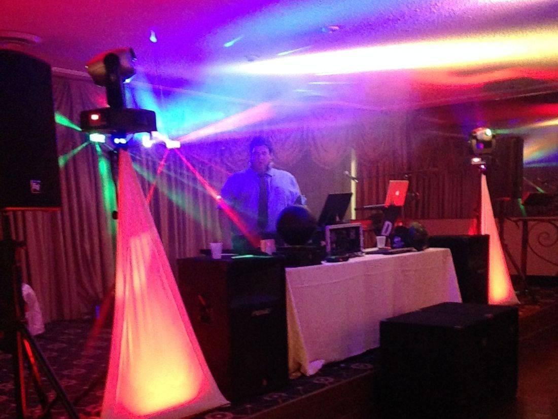 Michael Pircio DJing at a party