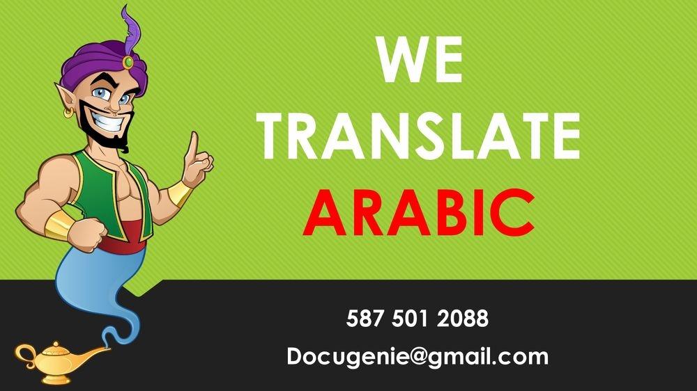 Arabic Translations for CIC