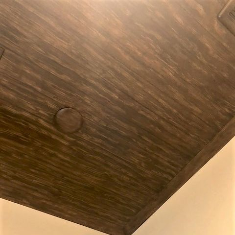 Faux painted wood ceiling