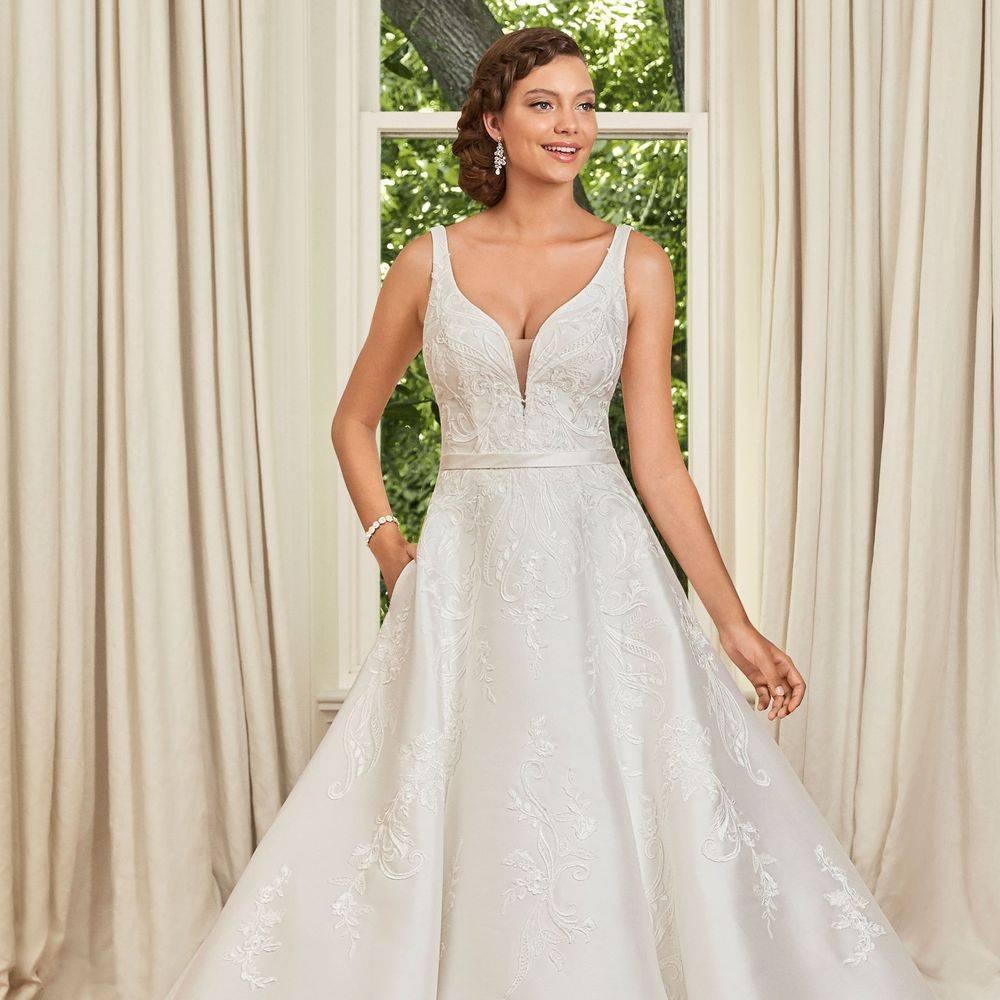 Sophia Tolli, Y21970A, aline wedding dress, a-line wedding dress, wedding dresses with pockets, stunning wedding dress