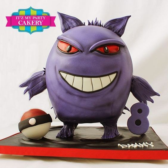 Purple Pokemon Dimensional Cake Milwaukee