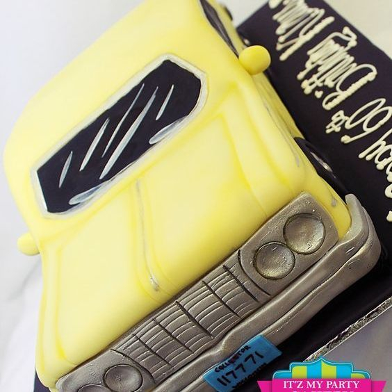 Yellow Car Dimensional Cake Milwaukee