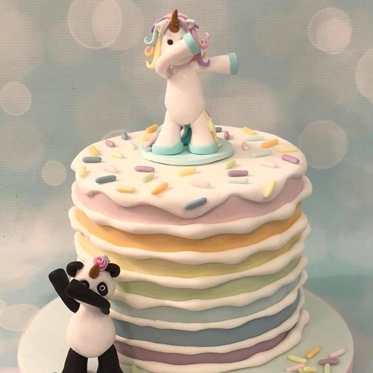 Pastel Rainbow Cake Pandicorn Unipanda Pandacorn Dabbing Unicorn