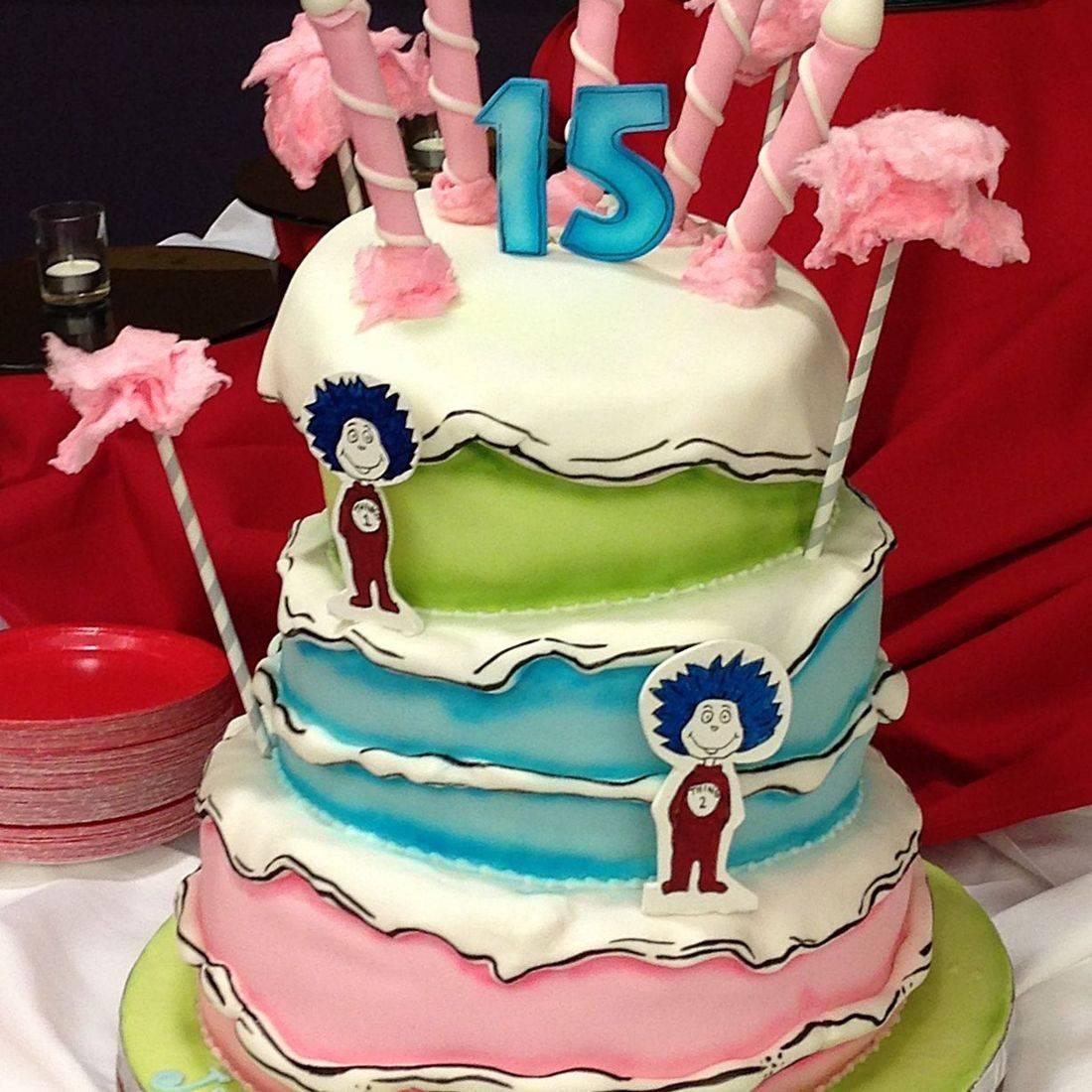 Custom Dr. Suess Cake  Milwaukee
