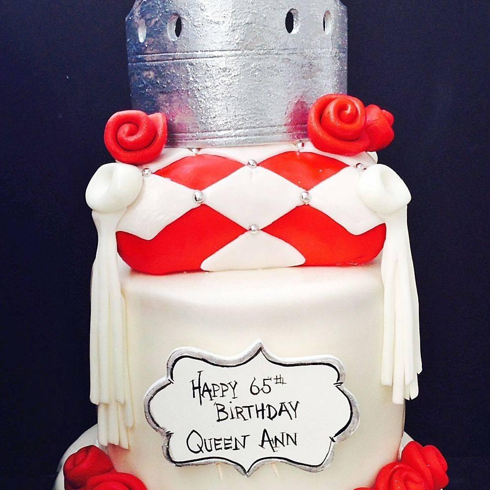 Custom Silver Crown Cake Milwaukee