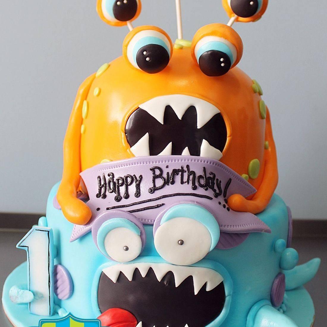 Monsters Cake Dimensional Cake Milwaukee