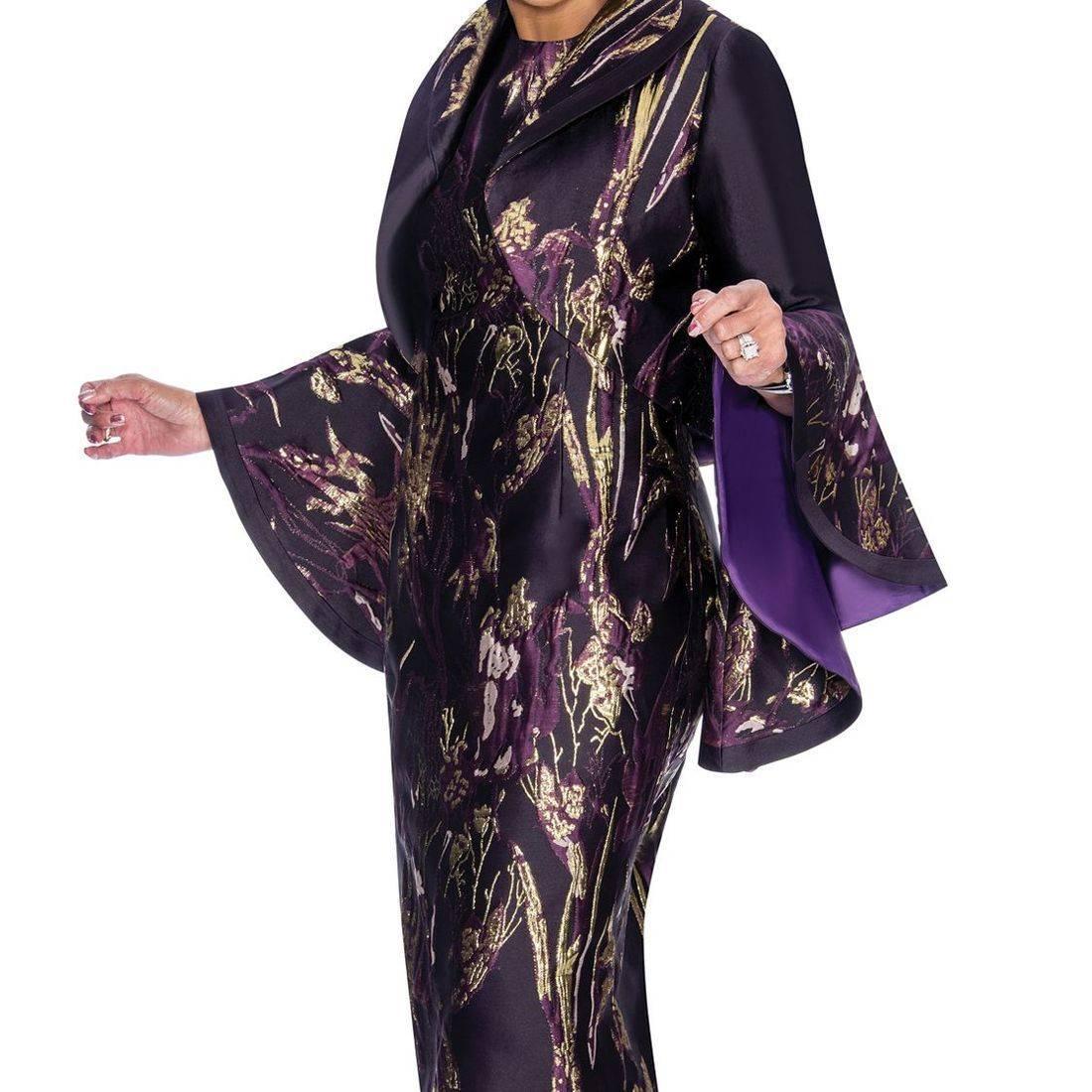 dorinda purple/gold dress
