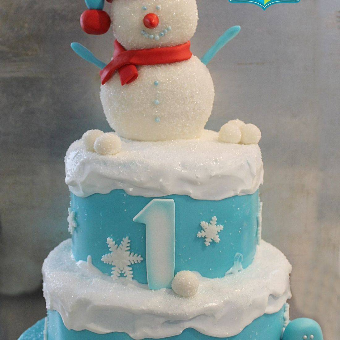 Custom Snowman Winter Cake Milwaukee
