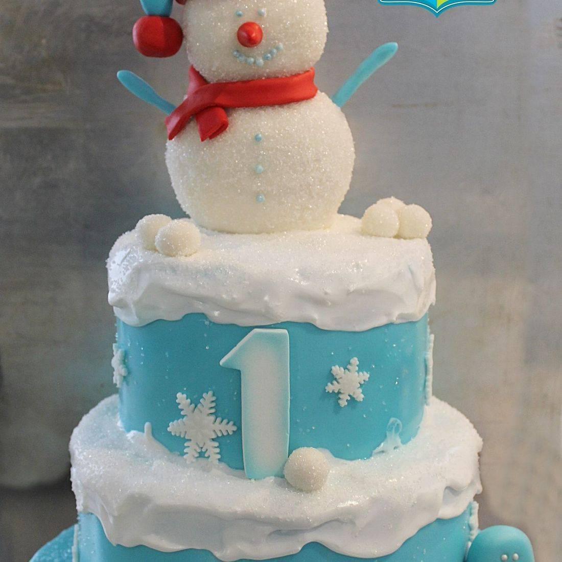 Custom Snowman Winter Cake Milwaukee