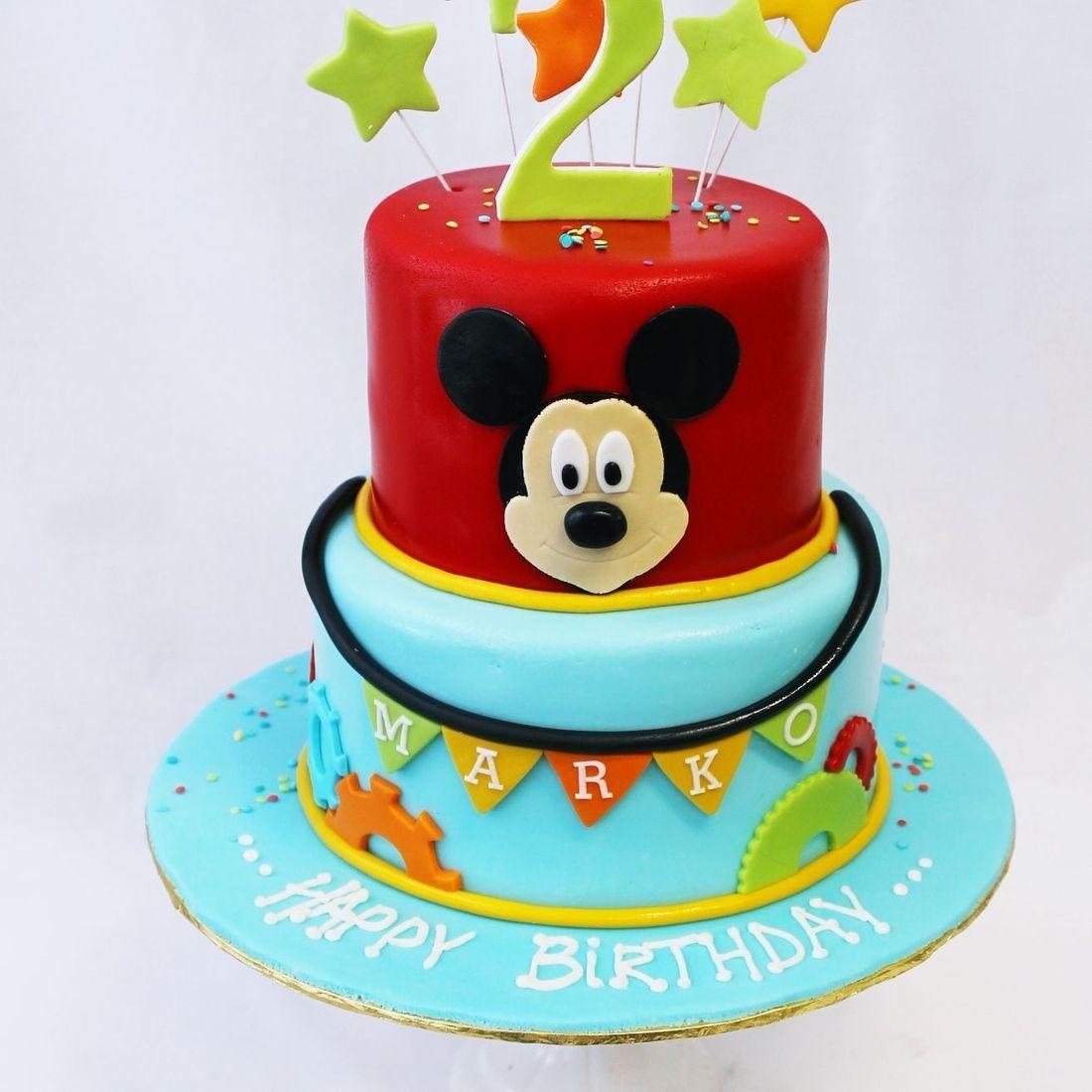 Custom  Mickey Stars Cake  Milwaukee