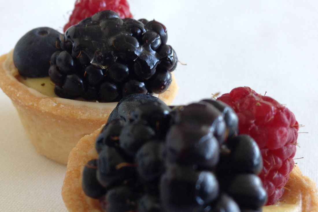 Mixed Berry Custard Tartlets