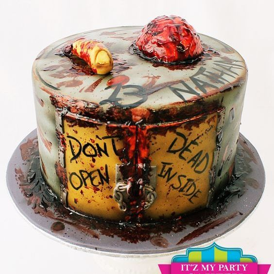 Custom Zombie Halloween Cake Milwaukee