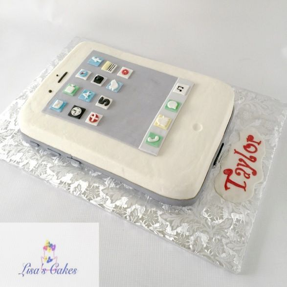 iPhone birthday cake, cellphone cake