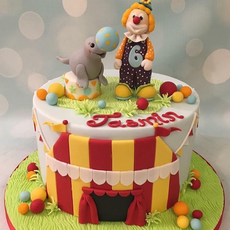 Circus Clown Cake Seal Birthday Novelty Tent Bunting