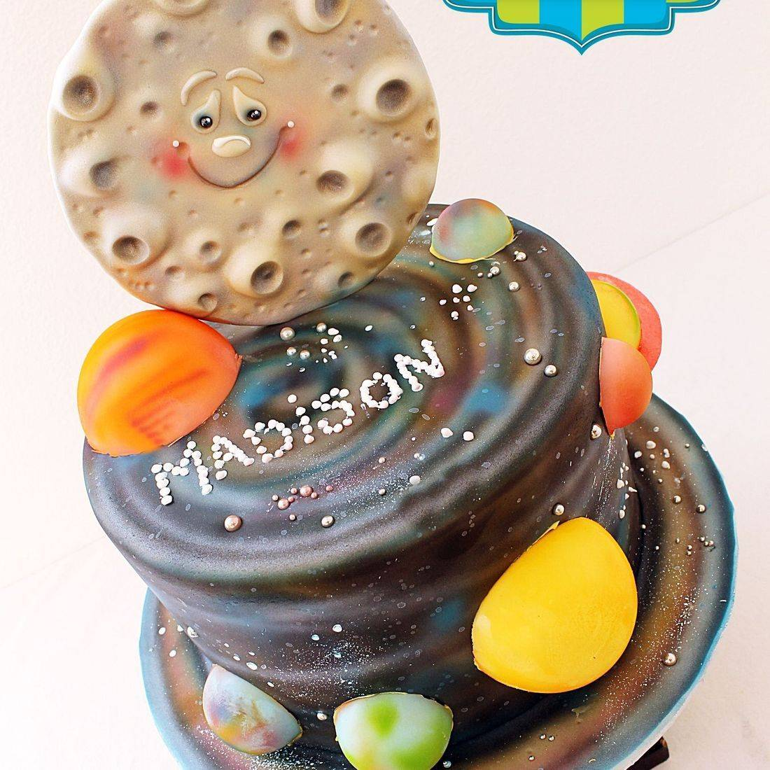 Custom Solar System Moon Planets Cake Milwaukee