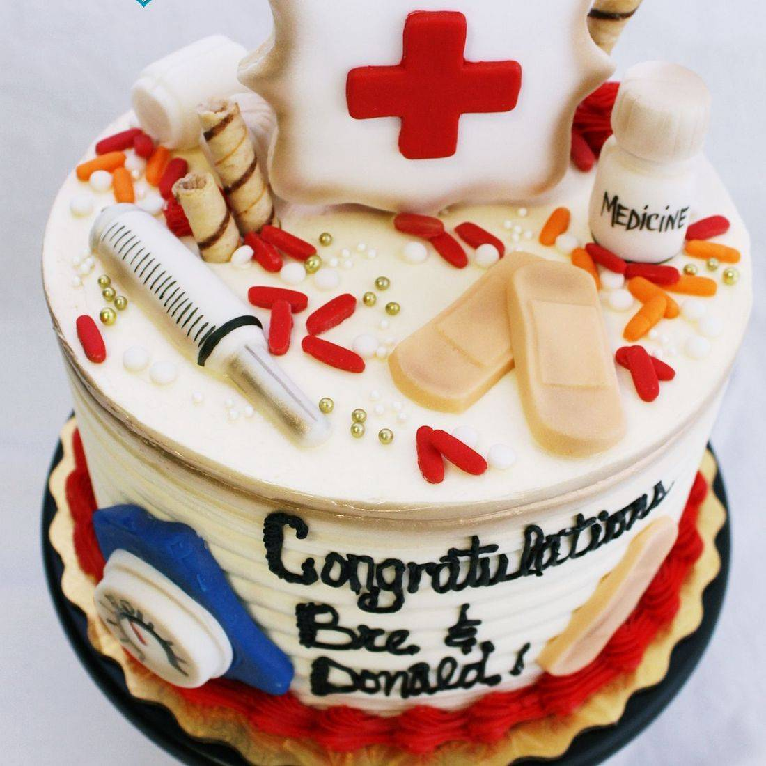 Medical Graduation stylized cakes milwaukeeRetirement Fishing Cake