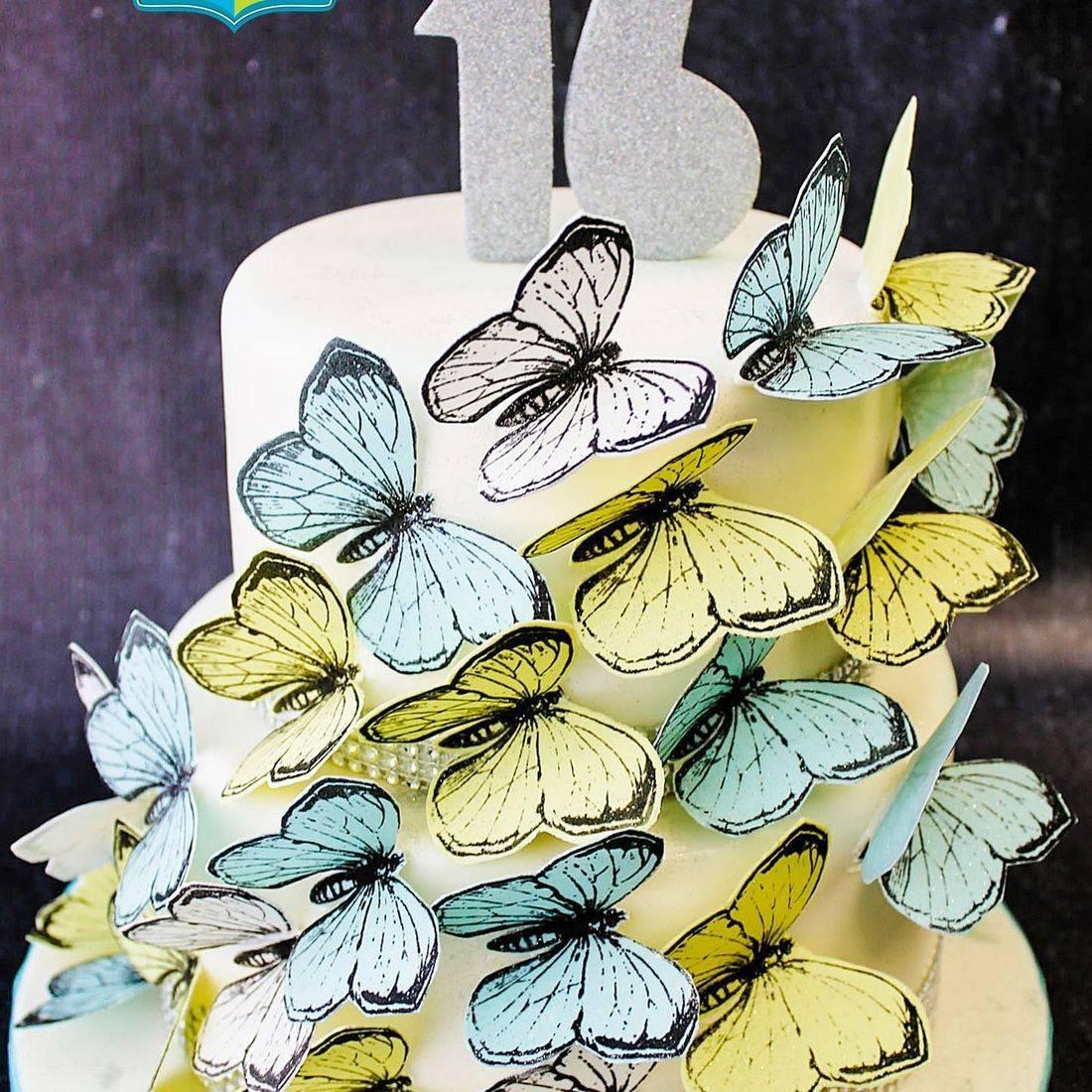 Custom Butterfly Cascade Cake  Milwaukee
