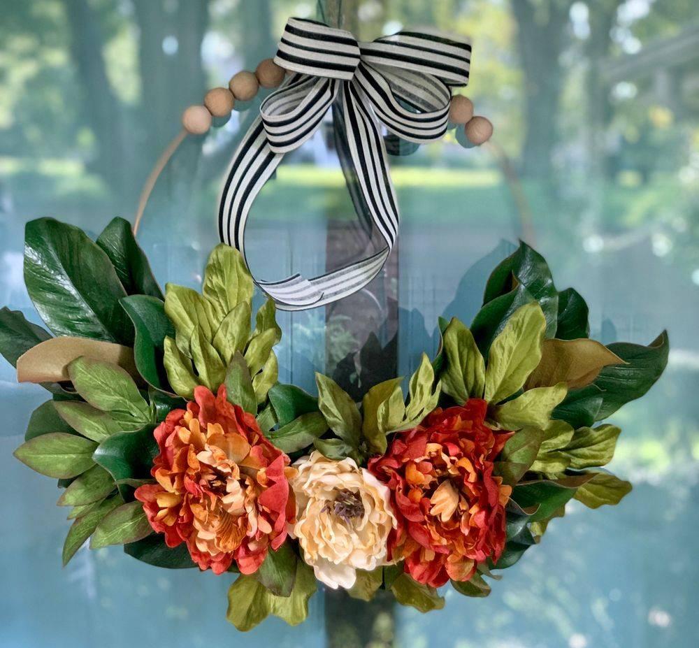 Fall Peonies Wreath