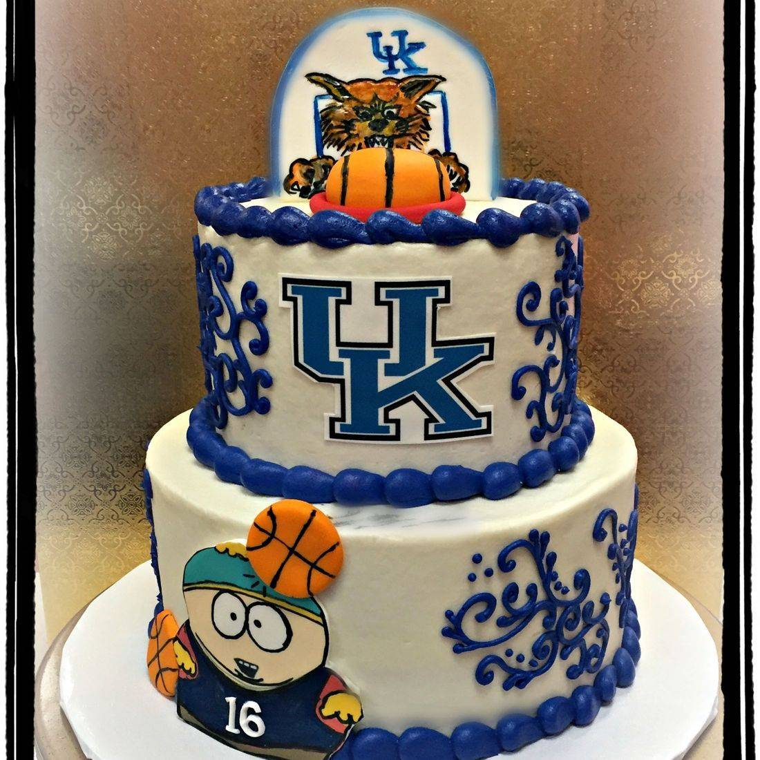 UK birthday cake University of Kentucky Blue Basketball cake UofK