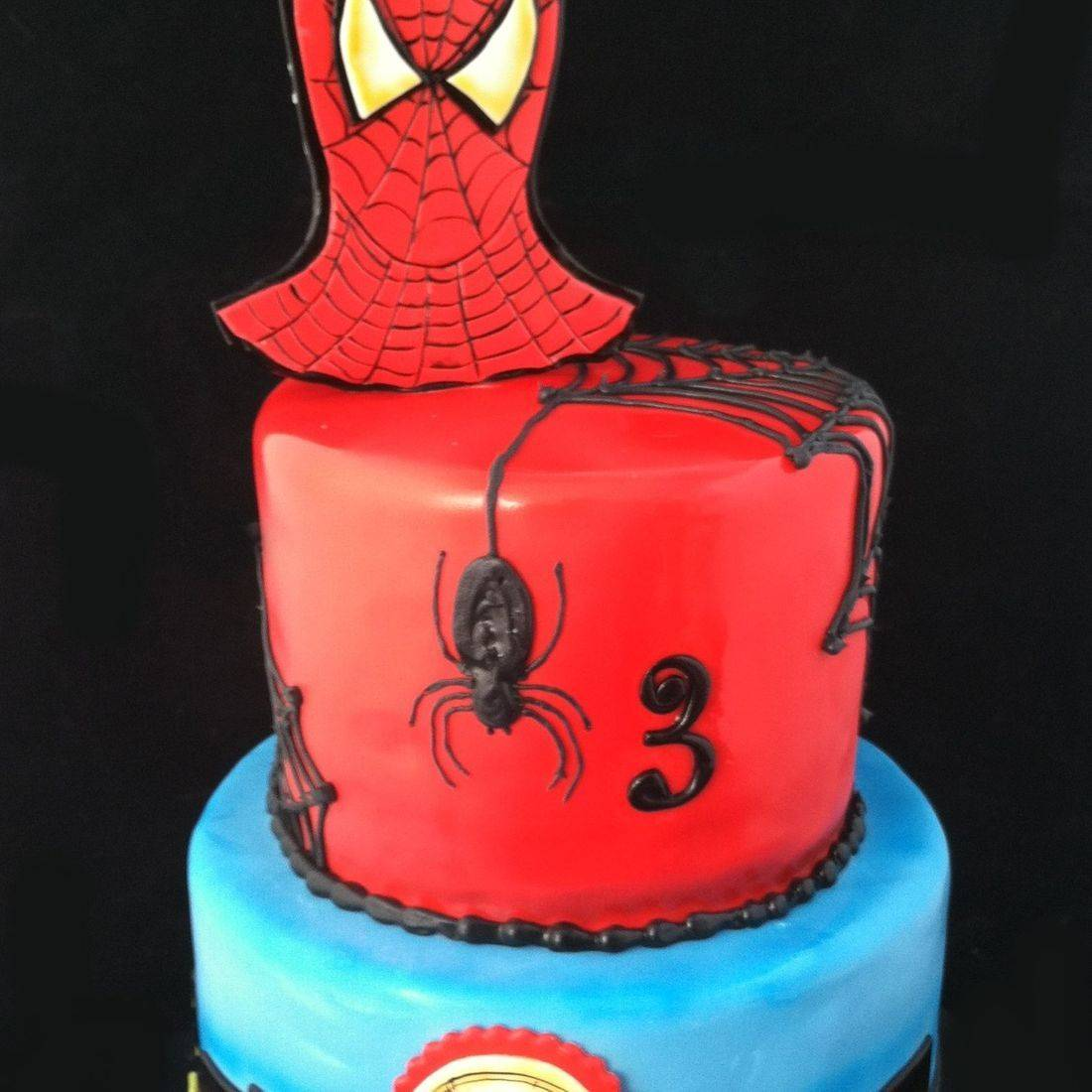 Custom Spiderman Cake Milwaukee