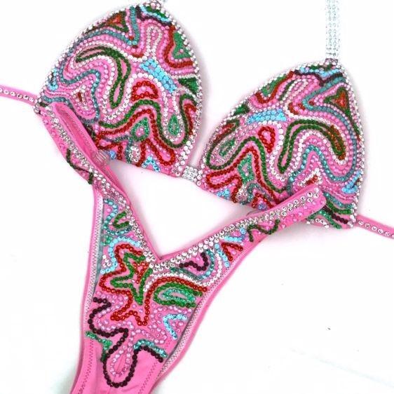 pink figure suit