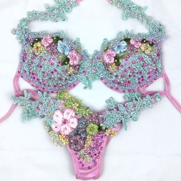 pink WBFF bikini