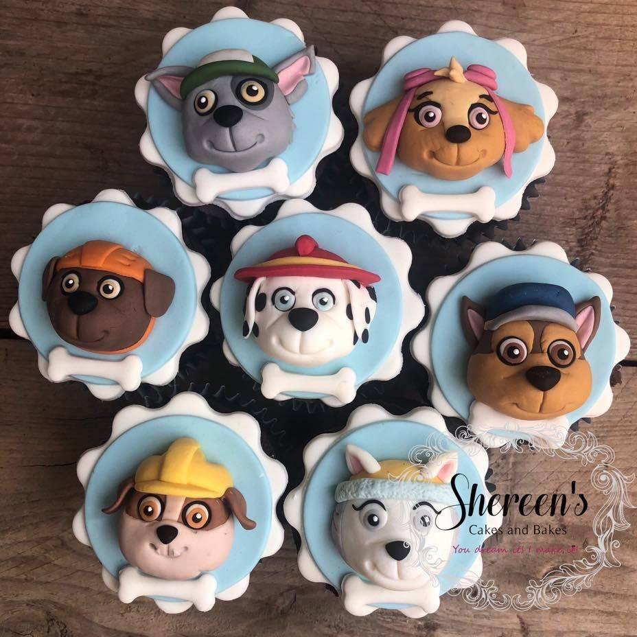 birthday cupcakes paw patrol marshall rubble