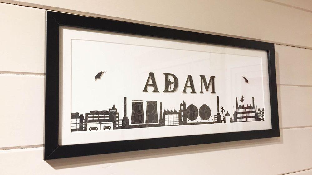 Personalised name frame