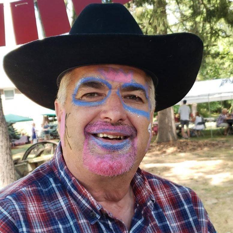 Cowboy in black hat