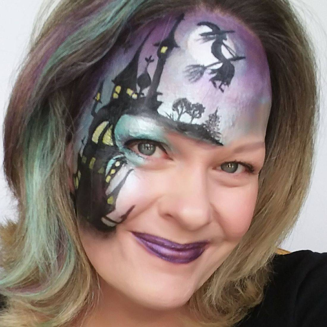 Halloween Face painting, face painting near me, witch halloween, Chicago face painter, Chicago face painting