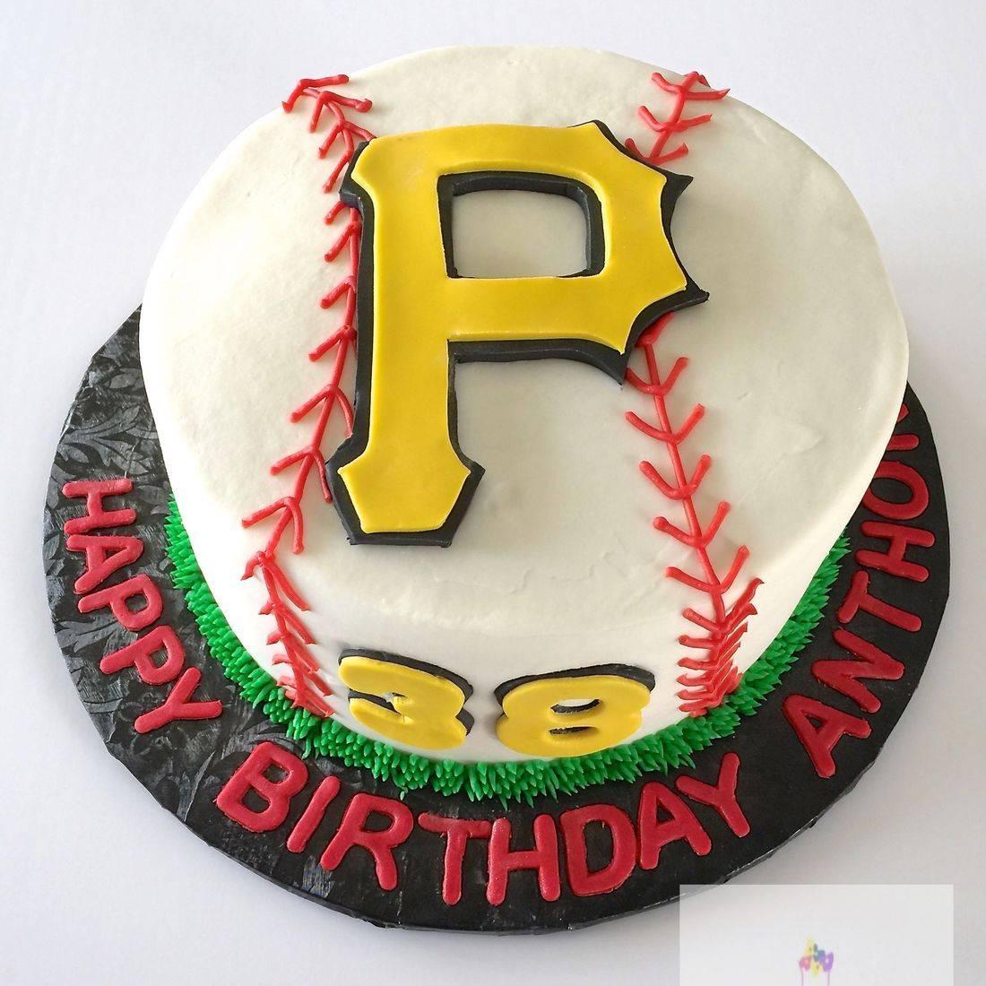 Pirates Baseball Birthday Cake