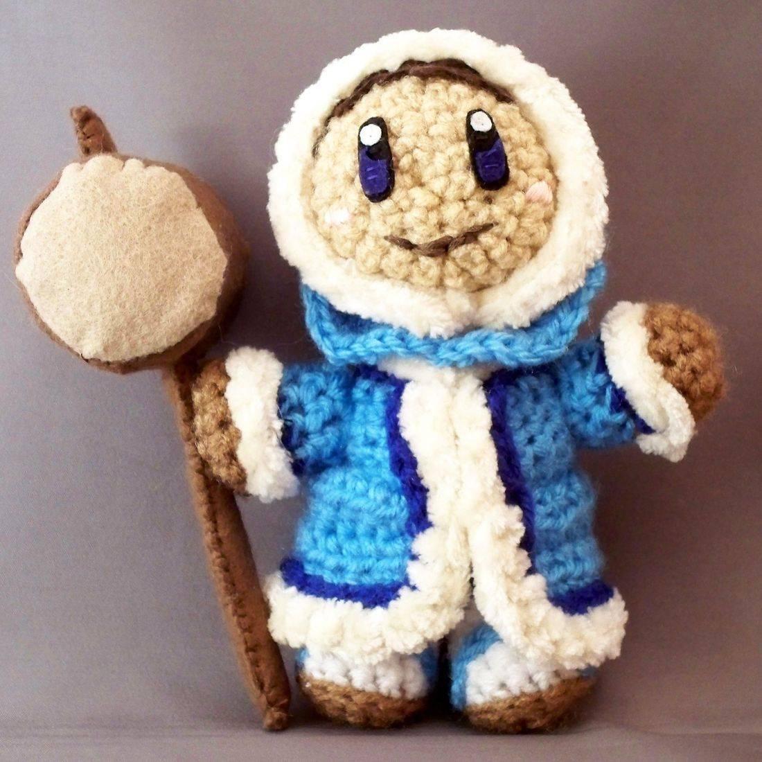 Popo, Ice Climbers, Nintendo, Amigurumi, Crochet, plush, doll, handmade, nerd, video game