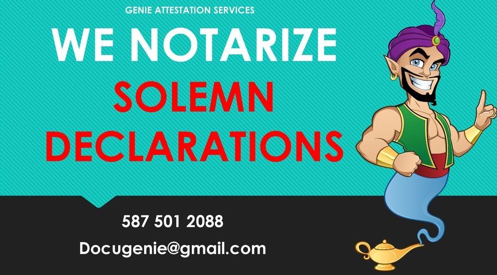 Solemn Declaration