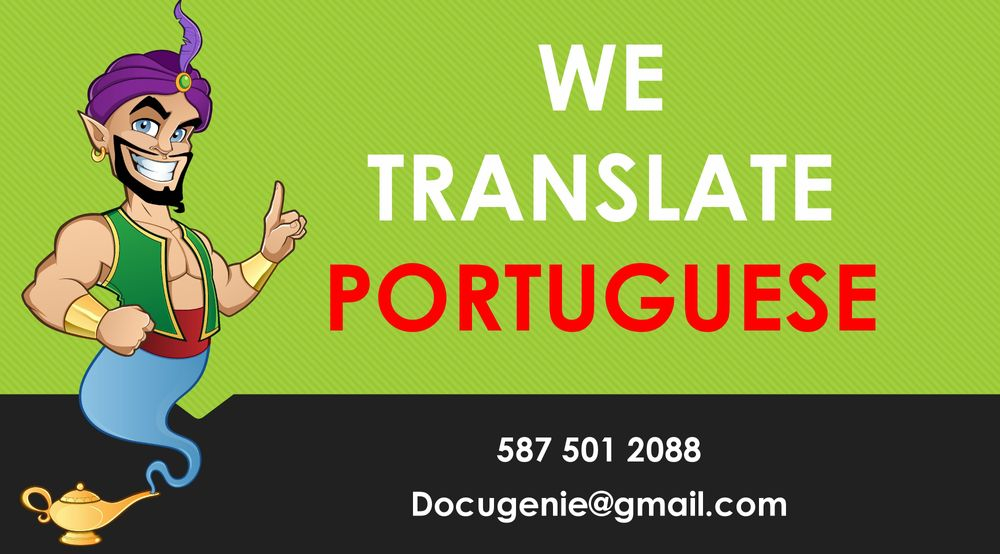 Certified PORTUGUESE Translation