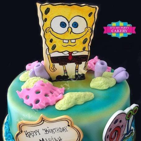 Custom Spongebob Sea Cake Milwaukee