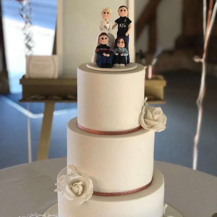 Wedding Cake Romantic Ivory White Pink Diamante