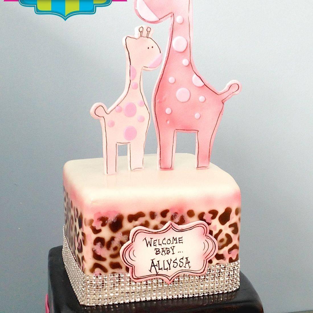 Custom Mama Baby Giraffe Cake Milwaukee