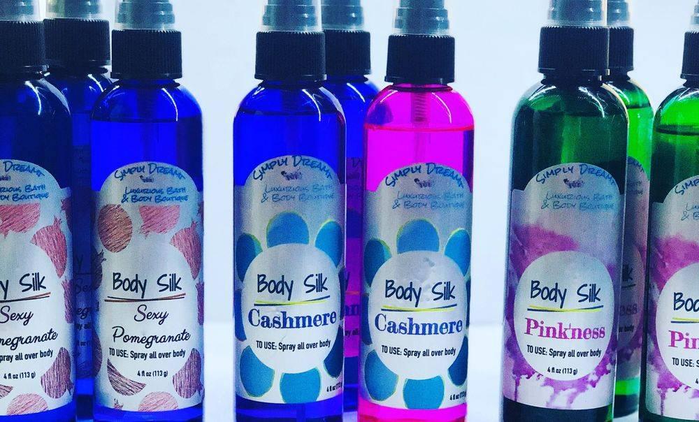 Lotions, sprays, massage oil, soap, body wash
