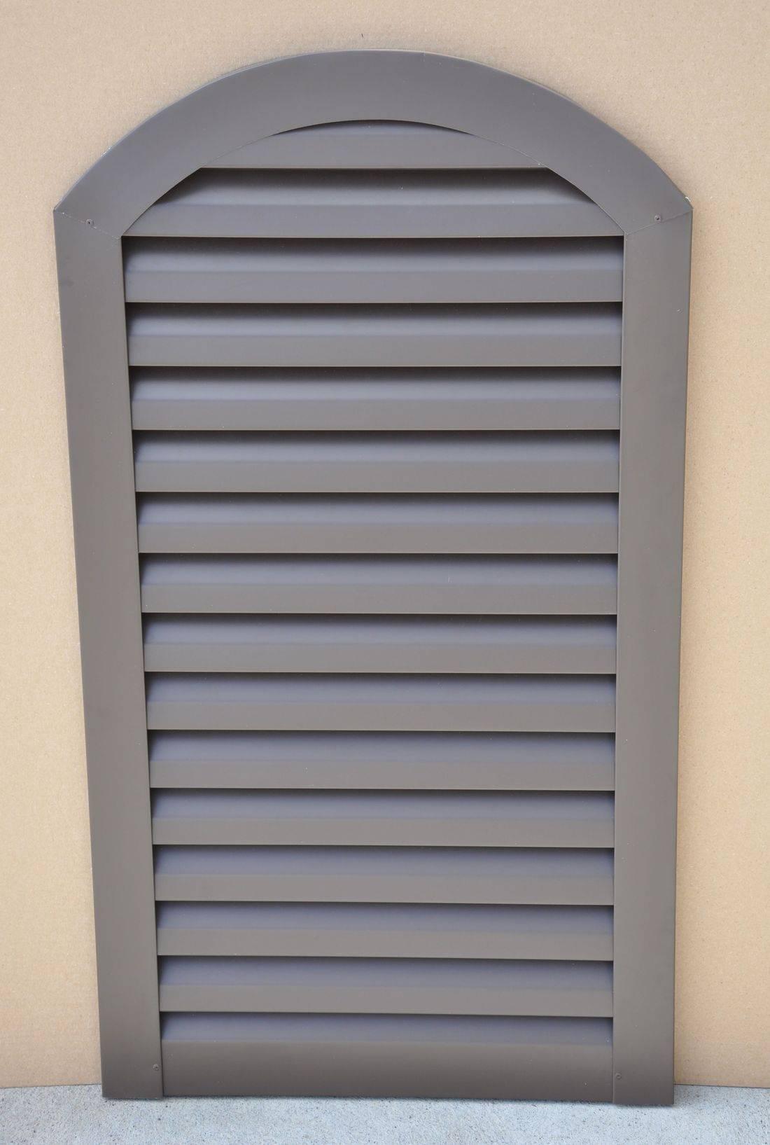 Aluminum arch top gable vent