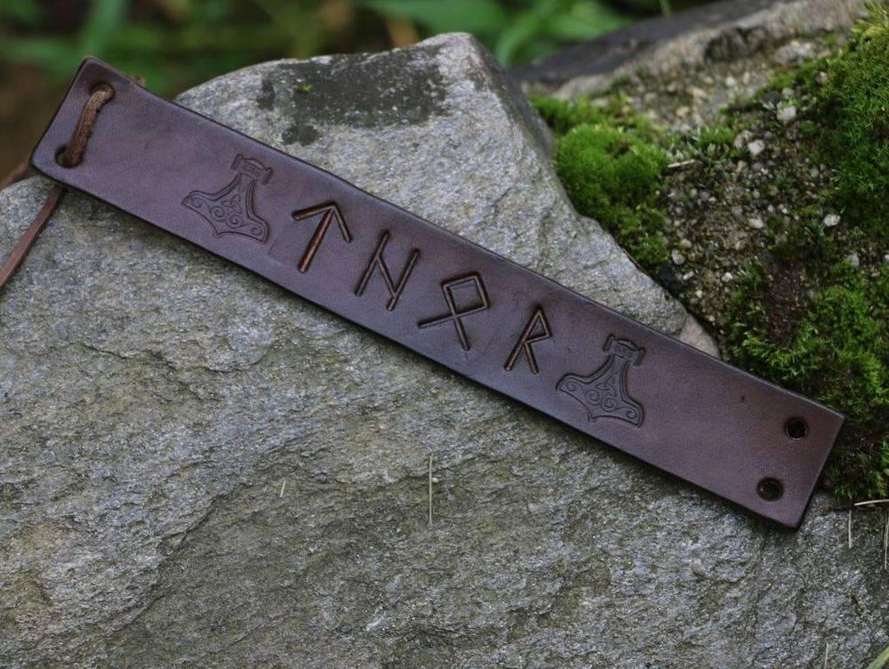 Thor, Thor Bracelet, Norse Gods, Runes, Viking Age, Vikings, Shield Ravens