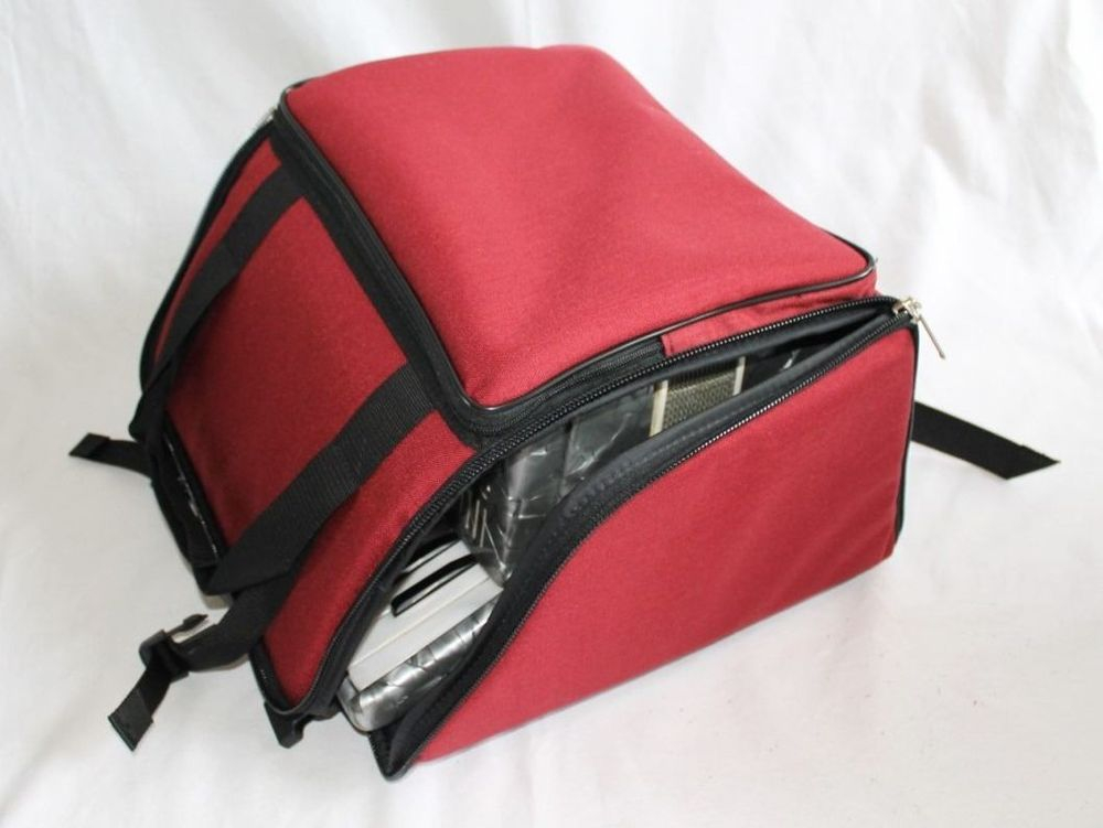 Professional large melodeon bag- red