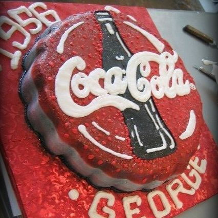 Coca Cola Coke  Grooms Cake