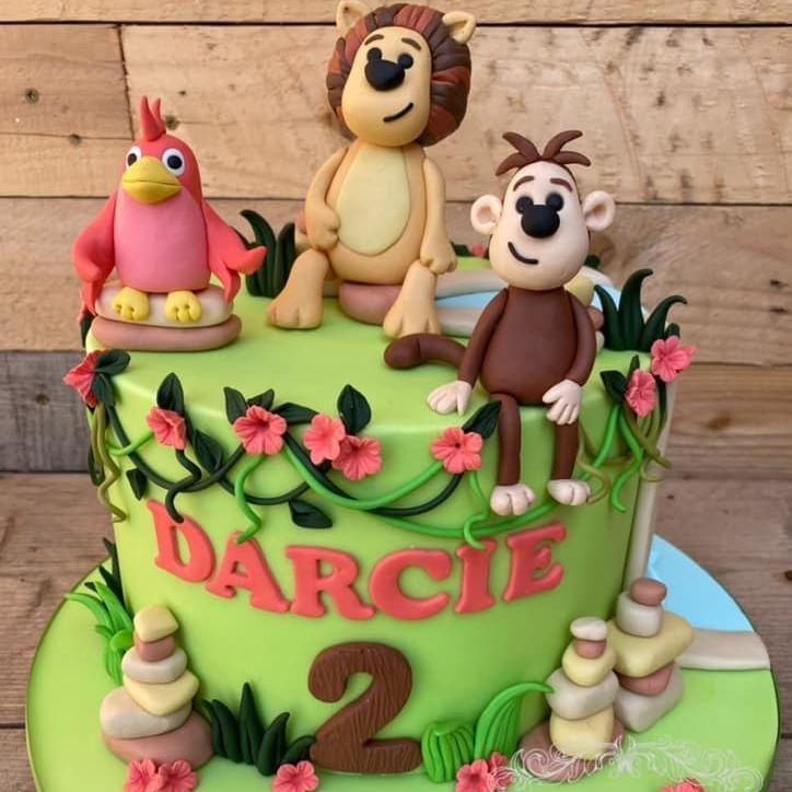 Raa Raa Lion Birthday Cake Monkey Bird