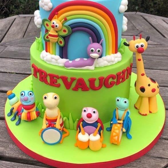 birthday cake first 1st baby tv big bug band rainbow