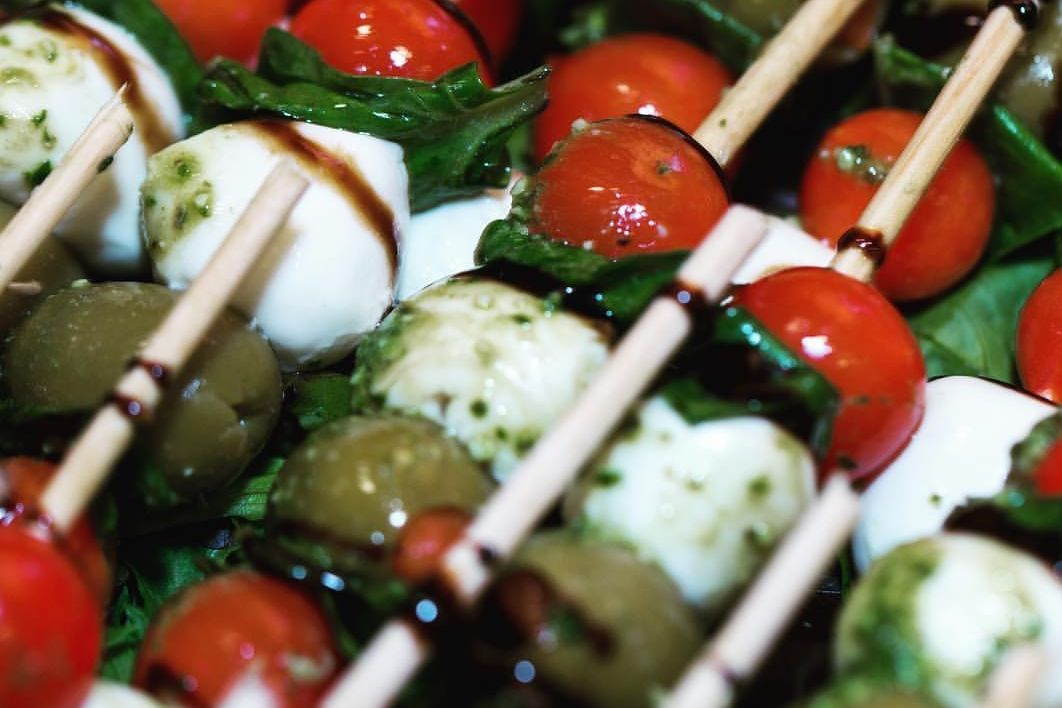 Caprese skewers are a favorite Italian appetizer