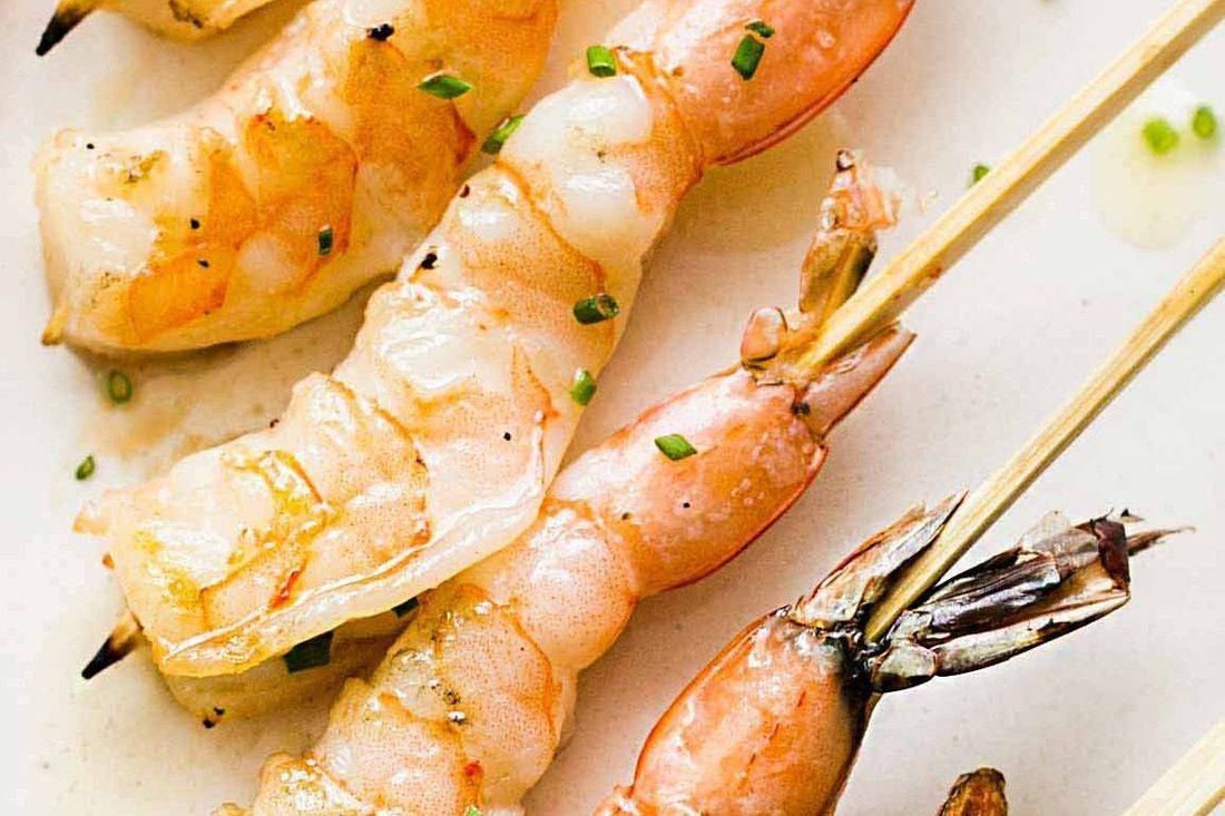 This is our creole shrimp skewer