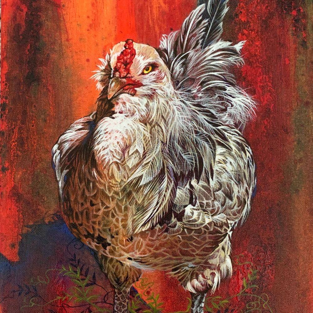 NCooper - Red Rooster - Acrylics - 12x16 - $225